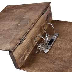 wooden binder with decorative hinges - Google Search