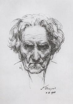 Self-portrait, 1968  Martiros Saryan