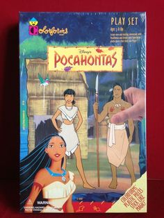 Disney's Pocahontas Play Set By Colorforms No 791 NISB Sealed New #Colorforms Disney Pocahontas, 90s Toys, I Remember When, Childhood Toys, Paper Dolls, More Fun, Growing Up, Children, Kids
