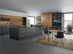 contemporary kitchen interior Why You Should Remodel Your Kitchen to a Modern Kitchen European Kitchens, Luxury Kitchens, Cool Kitchens, Modern Kitchens, Fitted Kitchens, Kitchen Modern, White Kitchens, Timber Kitchen, Dream Kitchens