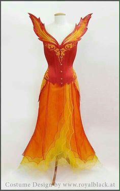fire costume- Thinking the firebirds from Labyrinth Ballet Costumes, Dance Costumes, Fantasy Costumes, Pretty Dresses, Beautiful Dresses, Fire Costume, Phoenix Costume, Fire Fairy, Ballet Russe