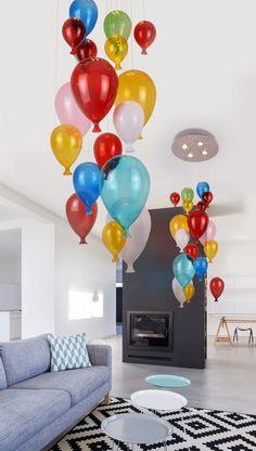 Hängeleuchte Balloon 4 x Ibiza, Bunt, Interior Design, Home Decor, Lighting, Light Fixtures, Mood, Nest Design, Decoration Home