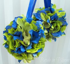 blue and green wedding | ... balls green royal blue wedding bouquet wedding flower ball decoration