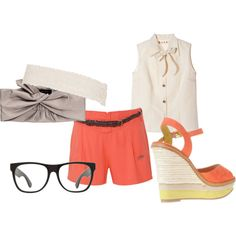 My first creation: I love the glasses and the shoess