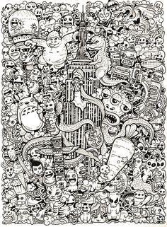 43 Best Doodle Invasion Coloring Book images   Doodles, Doodle art ...
