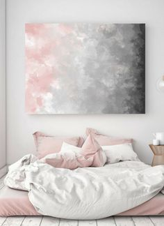 Printable Wall Art | $6 Blush Gray Painting, Digital Print, Scandinavian Decor, Ombre Art, Grey Watercolor Print, Abstract Art, Modern Print #printable #wallartprints #wallart #wallartdeco #scandinavianstyle #minimalistpainting #modernhomedesign #minimalistdecor #ad