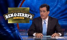 Watch Colbert Wag His Finger at Ben & Jerry's