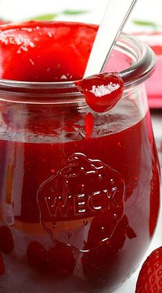 Strawberry-Raspberry Sauce {best ever} by WickedGoodKitchen.com ~ Lush, thick, bright ruby-red and bursting with fresh berry flavor, this versatile dessert sauce is easy to prepare, much better than store bought, uses only 4 ingredients and is ready in just 15 minutes!