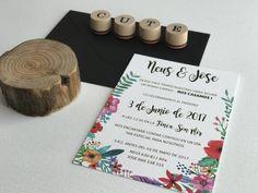 Invitación de boda colección Floral modelo Primavera