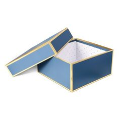 Sugar Paper® Navy Round Gift Box   Target, Gift boxes and Sugar