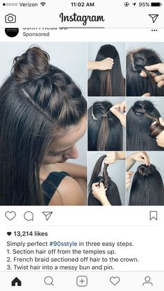 Half Up Braid Top Knot Frisuren Braids Braids In - Diy Braided Chignon Hair Long Hair Braids How To Diy Hair Hair Tutorial Hairstyles Hair Tutorials Easy Hairstyles Take A Look At Some Of The Hair On Our Page Wed Love To Hear Your Feedback Ros Medium Hair Styles, Curly Hair Styles, Hair Medium, Braided Top Knots, Knot Braid, Fishtail Braids, Easy Hair Braids, Cornrows Ponytail, French Braided Bangs