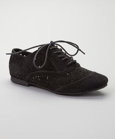 Look what I found on #zulily! Diva Lounge Black Mason Eyelet Oxford by Diva Lounge #zulilyfinds