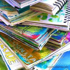 Inside these journals are my latest play with my new stencils from @stencilgirl_products
