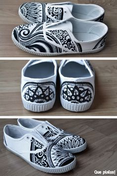 64 ideas for sneakers diy sharpie canvases Painted Canvas Shoes, Custom Painted Shoes, Painted Sneakers, Hand Painted Shoes, Painted Clothes, Custom Shoes, Arte Sharpie, Sharpie Canvas, Diy Sharpie