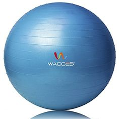 Exercise Ball for Yoga Fitness Pilates Sculpting Blue 55 cm * Visit the image link more details.