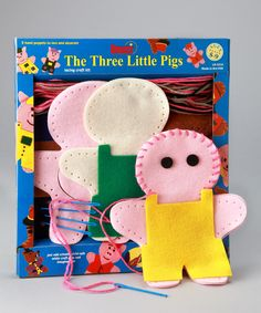 Lauri The Three Little Pigs Lacing Craft Set ~ I can definitely make these!