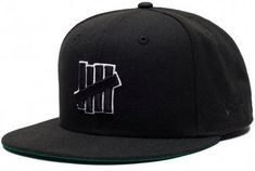 0907d4608f75 Undefeated brand Hat 5 Strike SP16 Fitted Cap New Era 59fifty cool black hat  NWT