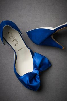 "I have always wanted my ""something blue"" to be my shoes. I love that the bow is a little to the side and that the heel is only 2.75"""