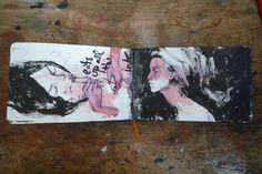 Artist Stella Im Hultberg sketchbook drawings: