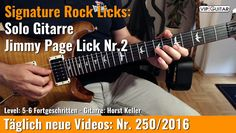 ✪ Signature Rock Licks ►Solo Gitarre - Jimmy Page Lick Nr.2