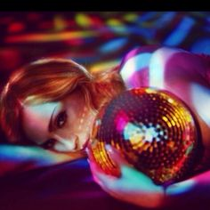 Madonna holding a disco ball #discoball #disco #stayinalivenovi