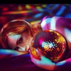 Madonna holding a disco ball #discoball #disco #stayinalivenovi