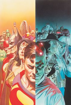 Alex Ross' cover for the hardcover release of Justice