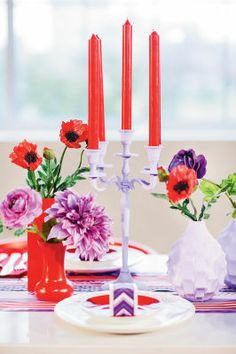 Michaels.com Wedding Department: Poppy Wedding Candelabra Impress your guests with a beautiful candelabra. These floral poppy touches are the perfect accent for your perfect day!