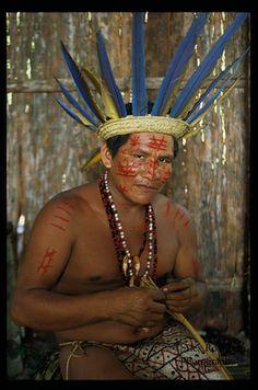 Brazil | A Kayapo Indian man. N. S. das Graças, Manaus, Amazon | © Alex Robinson.