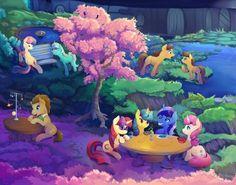 Background Ponies - full by viwrastupr