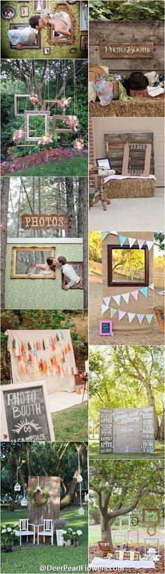Unique wedding ideas - Wedding photo booth backdrop ideas / http://www.deerpearlflowers.com/brilliant-wedding-photo-booth-ideas/