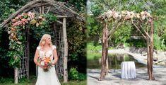 Arcos con ramas para un toque más rústico