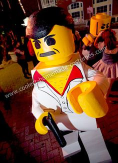 Coolest Homemade Lego Minifigures Group Costume 18
