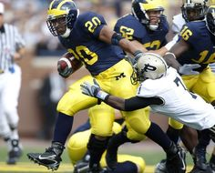 Michigan Wolverines all time leading rusher #20 Mike Hart