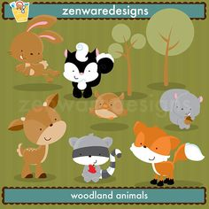 Woodland Creatures clipart - for invitation!