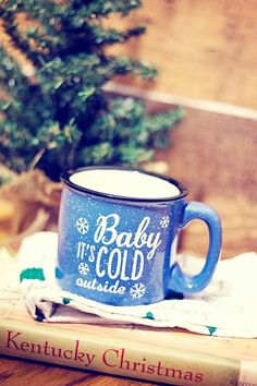 Hey, I found this really awesome Etsy listing at https://www.etsy.com/ca/listing/254558968/baby-its-cold-outside-campfire-mug