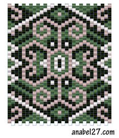 Схема кулона - мозаичное плетение