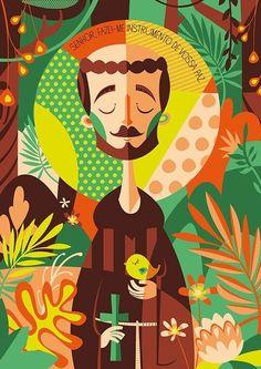 São Francisco de Assis (Ilustradora Clau Souza)