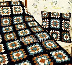 PDF Crochet Pattern for a Patchwork Granny por TheKnittingSheep