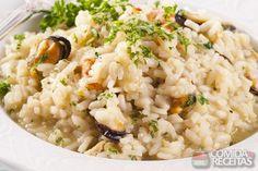 Receita de Risoto de marisco em receitas de arroz, veja essa e outras receitas aqui!