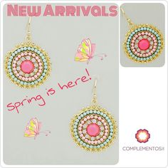 Morrocan earrings #springedition   Para más info contactanos : 809 853 3250 / 809 405 5555 Pagos a través de Paypal  Delivery  Envoltura disponible   #newarrivals #available #newcollection #earrings #aretes #gold #pink #fancy #accesories #jewelry #chic #trendy #delicate #precious #glam #gorgeous #unique #fancy #byou #becomplete #pretty #crystals #complementosjewelry #complementosrd