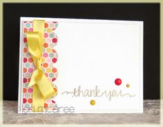 Smiling while Stamping: thank you handmade thank you card using Avery Elle Oh Happy Day stamp set