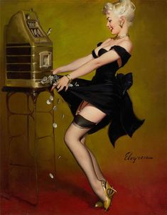 by Gil Elvgren. Elvgren was the best pin-up artist in the history of American Illustration.