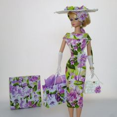 "OOAK Handmade Vintage Barbie/Silkstone Fashion by Roxy- "" LILA "" 