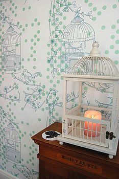 dotty bird wallpaper by Laura Felicity