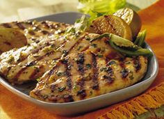 Grilled Chile-Lime Chicken; A lime and chili marinade is the secret to this juicy and flavorful chicken.  http://www.bettycrocker.com/recipes/grilled-chile-lime-chicken/64421e15-d0cd-4e9b-9fb4-a1e6dc211447