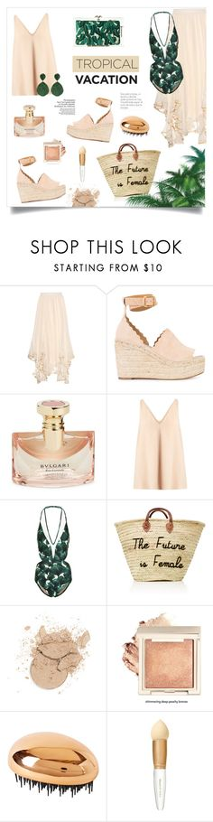 """""""Welcome to Paradise: Tropical Vacation"""" by alinepinkskirt on Polyvore featuring Chloé, Bulgari, STELLA McCARTNEY, ADRIANA DEGREAS, Monday and Elizabeth Arden"""