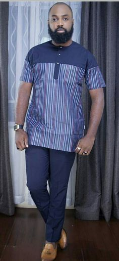 African print shirts for black boy - shweshwe ShweShwe 1 Couples African Outfits, African Dresses Men, Latest African Fashion Dresses, African Print Fashion, Africa Fashion, African Fashion For Men, African Wear Styles For Men, African Shirts For Men, African Attire For Men