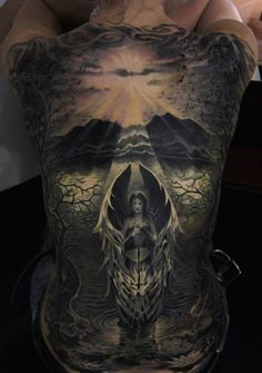 Nowadays, high quality tattoos tend to be viewed as high-end works of art, and with fine art, a lot of times you may need a big canvas. So what better canvas for a tattoo is there than a back? He...