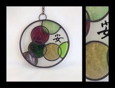 Circle of Life: Tranquility  Stained Glass by smashglassworks